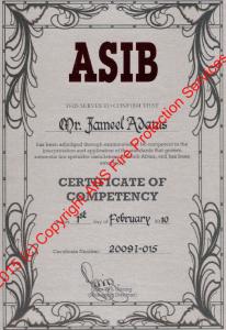 ASIB Certificate
